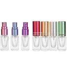 1шт высокое качество портативный цветной мини духи спрей бутылки стекло спрей распылитель путешествия косметический контейнер, пустой многоразового бутылки