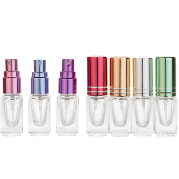 1pc High Quality Portable Color Mini Perfume Spray Bottle Glass Spray Atomizer Travel Cosmetic Container Empty Refillable Bottle 10ml mini refillable perfume spray bottle women portable aluminum spray atomizer travel cosmetic container empty perfume bottle