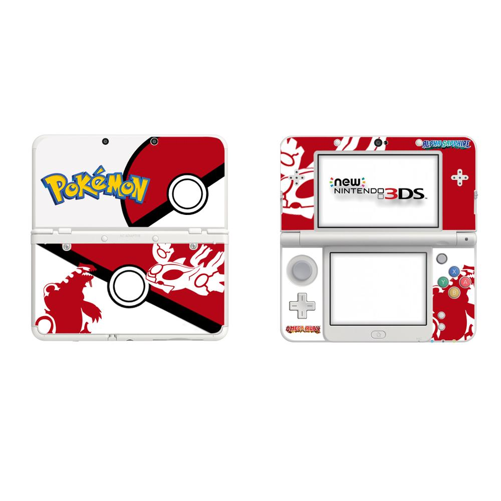 Pokemon Go Full Cover Decal Skin Sticker for Nintendo NEW 3DS Skins Stickers for NEW 3DS Vinyl Protector Game Skin Sticker image
