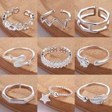 Anéis de dedo do pé de prata para mulheres, articulado, anel de dedo ajustável, bague feminino, boêmio, praia, acessórios retrô, joias