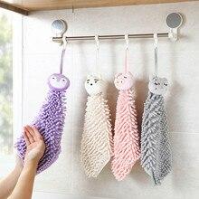 Картонное синель подвесное полотенце для рук Впитывающее Воду мягкое утолщенное носовой платок Висячие кухонные без ворса тряпка подарки для детей