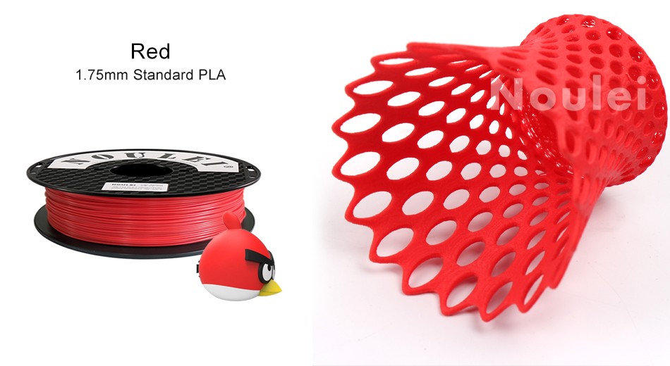 9 noulei 3d printing PLA filament 1.75mm red