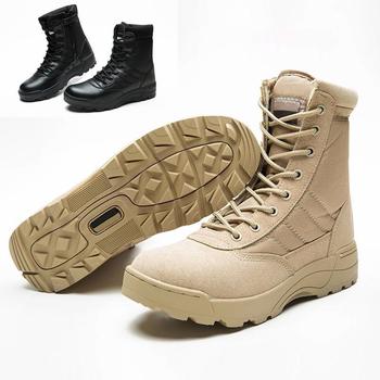 Nowy odkryty Us skórzany wojskowy buty wojskowe dla mężczyzn bojowy Bot piechota buty taktyczne Askeri Bot armia boty buty wojskowe tanie i dobre opinie OLOMM buty pustynne CN (pochodzenie) PRAWDZIWA SKÓRA Skóra bydlęca ANKLE Stałe PŁÓTNO okrągły nosek RUBBER Na wiosnę jesień