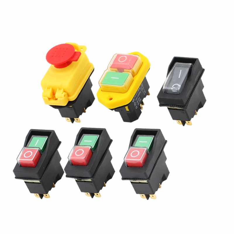 Waterproof Magnetic Push Button Switch KLD 28A KJD12 12A 220V KLD-28