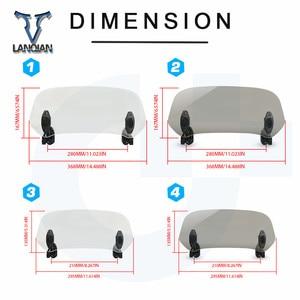 Image 5 - Motorcycle Windshield Adjustable Windscreen Deflector Universal for DUCATI Multistrada 1260 S D