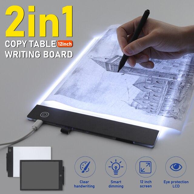 Tableta Digital de Atenuación Caja de Luz LED A4 Almohadilla de dibujo tablero de copia de rastreo graphi 4M