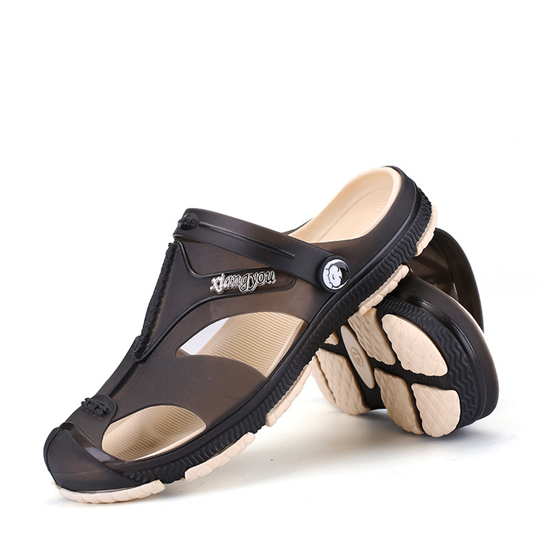 2020 Summer Men's Slippers Clogs Slip-On Garden Shoes Breathable Man Sandals Plus Size Male Beach Shoes Flip Flops Quick Dry