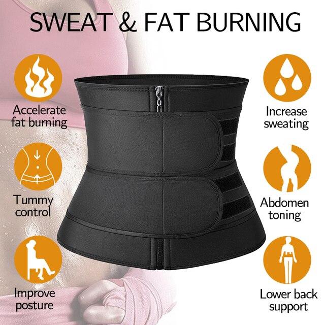Waist Trainer Sauna Sweat Slimming Belt Modeling Strap for Women Weight Loss Body Shaper Workout Fitness Trimmer Cincher Corset 2