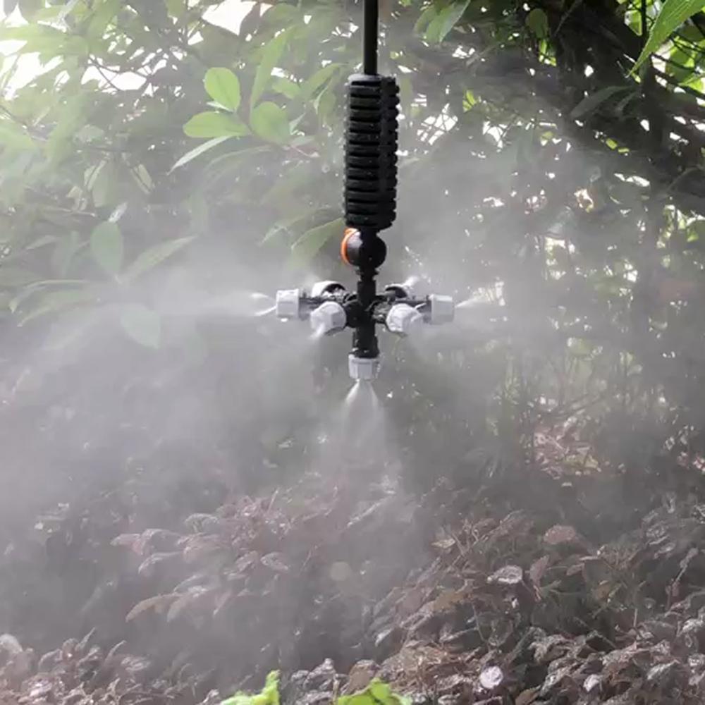 Hanging Anti Drip Misting Nozzle Cross Atomizing Nozzle Fog WATER SPRAY To Greenhouse Drip Irrigation 1set