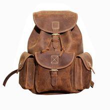 Vintage Backpack Genuine Leather Travel Backpacks Rucksack School Laptop Camping Hiking Bag for College