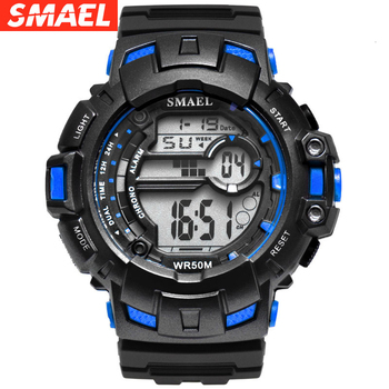 LED Digital Waches SMAEL Brand Luxury Clock Men Military Watches Alarm Relogio Montre Men Watches Sport Waterproof Reloj Hombre image