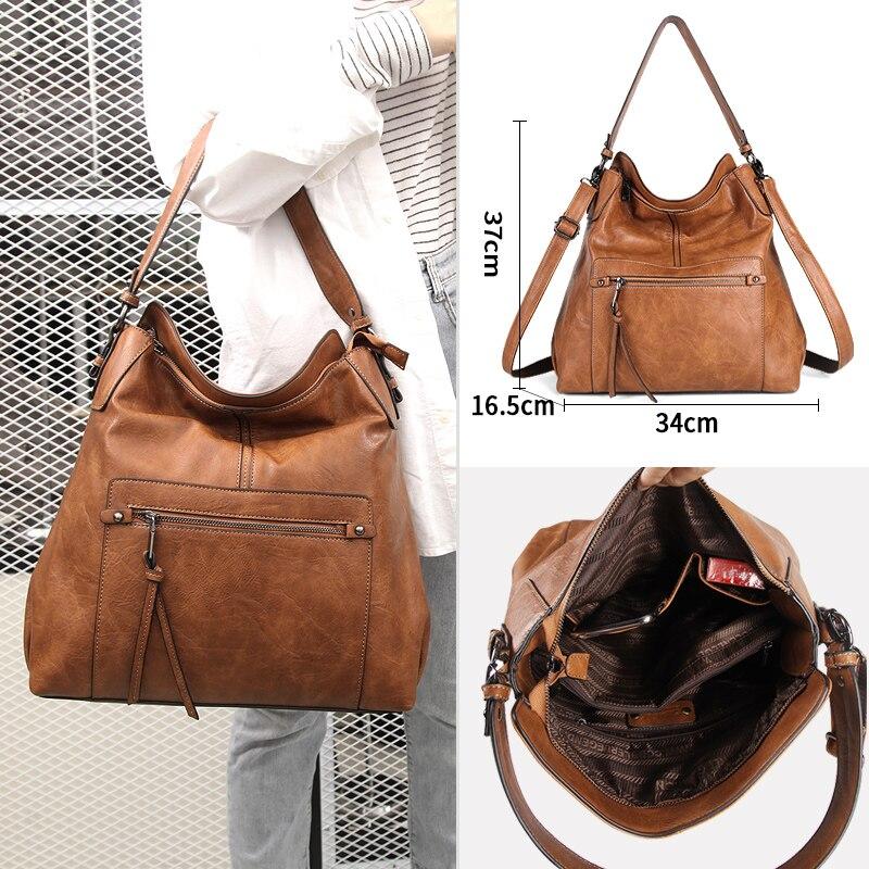 Cobbler Legend High Quality PU Leather Bags For Women Messenger Vintage Ladies Shoulder Satchel Bag Big Large Soft Tote Handbag