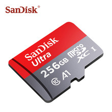 SanDisk A1 Micro sd card 256gb 200gb SDXC Memory card 128gb 64gb 32gb 16gb Class 10 TF card high quality microsd flash cards(China)