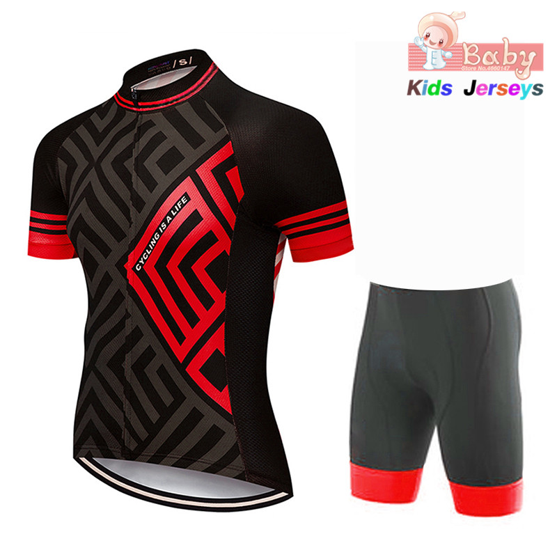2020 Summer Children's Bicycle Clothing New Bicycle Sweatshirt Short Sleeve Jersey With Shorts Children's MTB Bicycle Clothing B