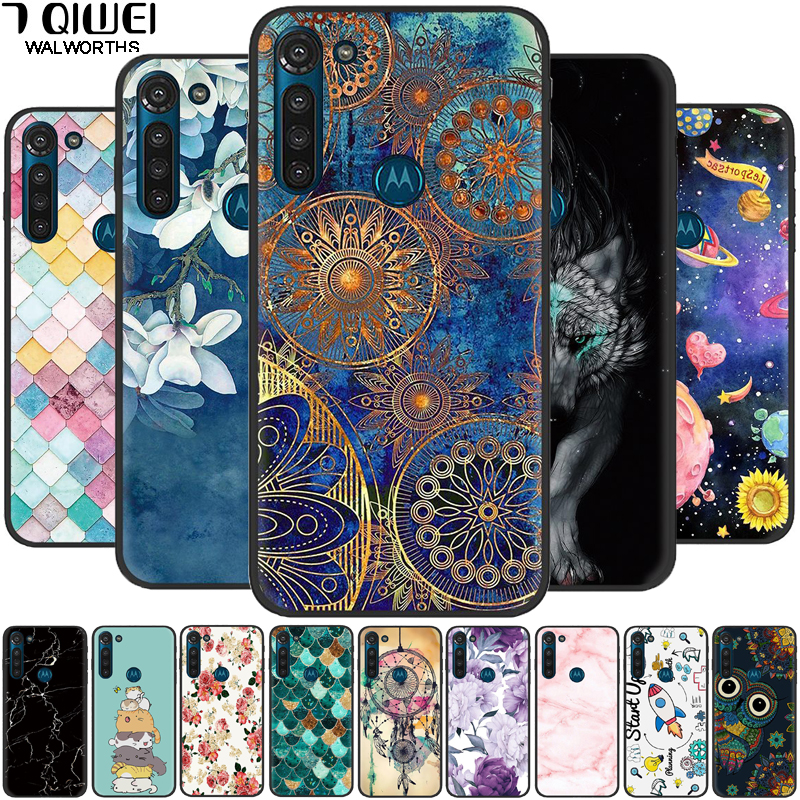 For Moto G8 Power Case Black Silicone Soft Phone Cover For Motorola Moto G8 Power Case TPU Funda for Moto G8Power G 8 Power Para