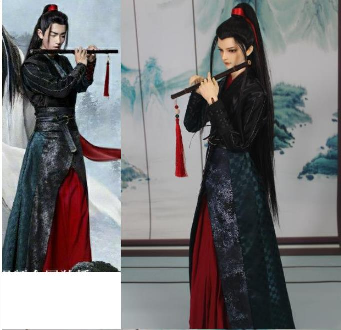 The Untamed Wei Wuxian Xiao Zhan BJD Clothes Hunting Suit Custom Made 70cm 1/3 1/4 Male Boy Bjd Chinese Ancient Costume Doll
