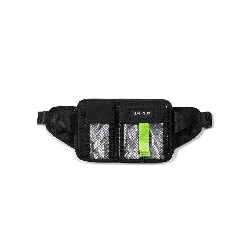 Letter Multi-storey Mesh Man Belt Bag Fashion Personality Cool Casual Cummerbund