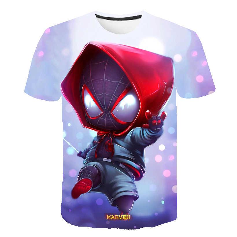 קיץ 3D בני בגדי סופר גיבור איש עכביש סופרמן תינוק ילד טי ילדים חולצה קיץ אופנה streetwear חולצות