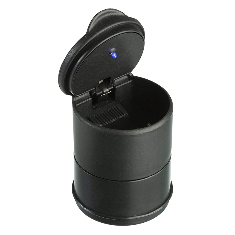 Ashtray With Lid And Led Light For Cup Holder