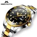 Часы MEGALITH мужские  модные  деловые  кварцевые  водонепроницаемые  со стальным ремешком  30ATM