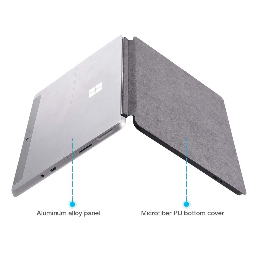 aluminum alloy For Microsoft Surface Go 10 Inch Keyboard Bluetooth Wireless Aluminum Alloy USA Tablet Keyboard With Touchpad Flip Stand Bracket (5)