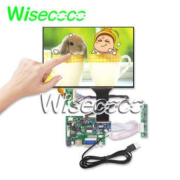 Wisecoco 10.1 Inch IPS LCD Screen 1280*800+ Touch Panel 16:10 Kit 10 Points Support Win7 8 10 Raspberry Pi Android Linux  USB 5V