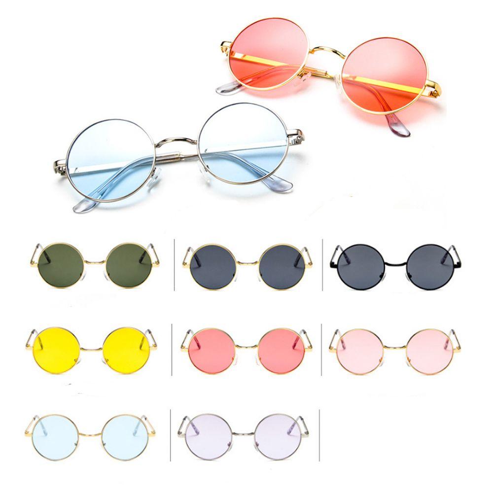 1pc Vintage Candy Color Simple Children Round Girls Anti-uv Sunglasses Hot Boys Girls Kids Retro Cute Sun Glasses Eyewear