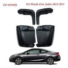 For Honda Civic Sedan 2012-2015 Mudflaps Splash Guards Front Rear Mud Flap Mudguards Fender 2013 2014 Set Molded Mud Flaps car styling abs front rear door mud splash flap guard fender for honda cr v 2015 crv 4dr mudguards 2012 2013 2014 2015 black