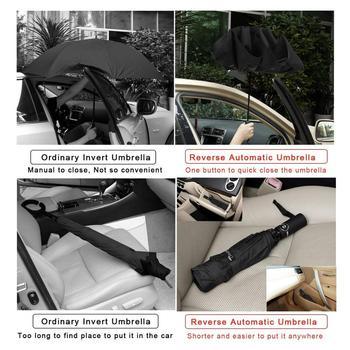 Parapluie invers pliant automatique coupe vent parapluie invers Portable 10 c tes avec bande r fl