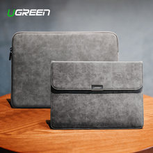 Ugreen Tas Laptop Kulit Tas Notebook Case Cover untuk MacBook Air MacBook Pro 13 Case Laptop Funda iPad Pro Air sleeve Case(China)