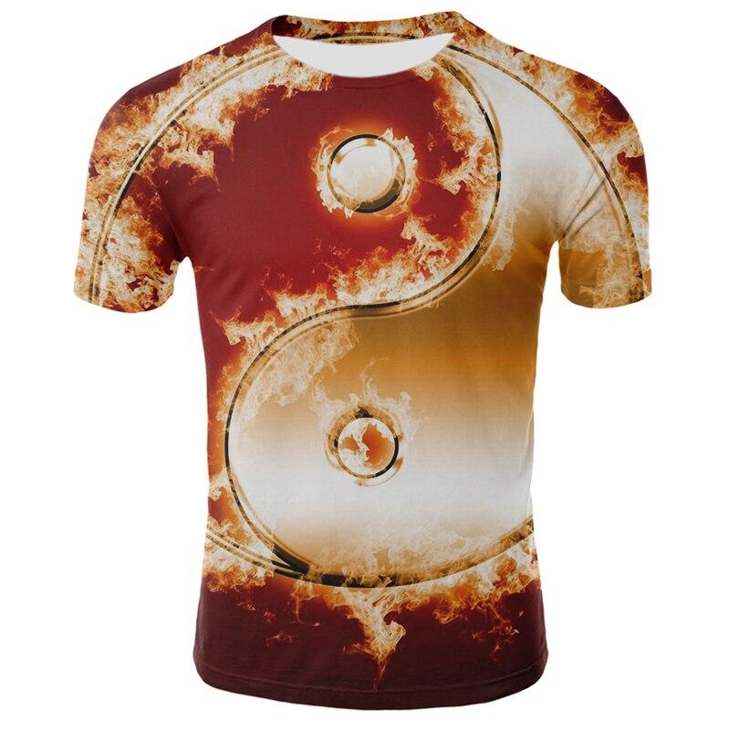 Летняя Новинка 2020 Мужская футболка с круглым вырезом и коротким рукавом tai chi, модная уличная спортивная футболка для мальчиков|Футболки| | АлиЭкспресс