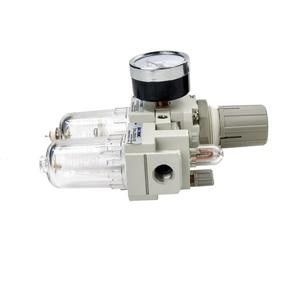 Image 5 - AC2010 02 ידני ניקוז אספקת אוויר משאבת מדחס מסנן לחות פנאומטי וסת לחץ שמן מים מפריד שני חלקים