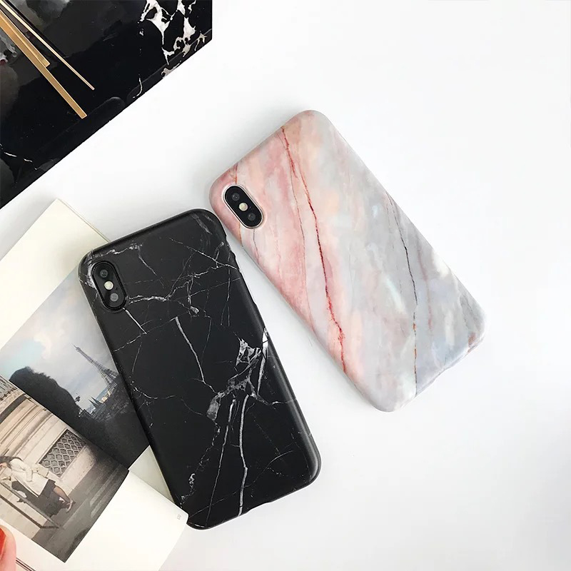 Luxury Imd Marble Stone Gel Case for Apple iPhone 7 11 Pro 6s 6 8 Plus X 10 XR XS Max Cases Black White Soft Squishy phone Case 2