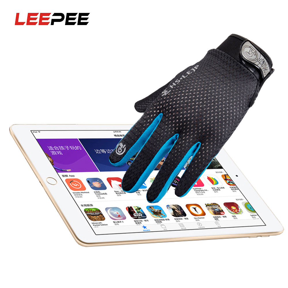 LEEPEE Full Finger Protective Gear for Outdoor Sports Bike Cycling Mitten Riding Tribe Touch Screen Gloves Motorcycle Gloves