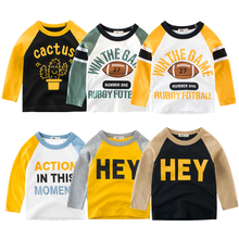 Kids T-shirts Boys Splice Long Sleeve Tops Girls Autumn Winter Cotton Sweatshirt 2 3 4 5 6 7 8 Years Children T Shirts Clothing cheap Sonkpuel Casual Patchwork REGULAR O-Neck Full Fits true to size take your normal size Unisex As Picture 2 3 4 5 6 7 8 Years old kids