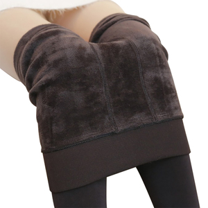 Image 1 - 2020 delle Donne di modo di Inverno Pantaloni Leggings Plus. Cashmere Pantaloni Sexy Caldo Super Elastico Del Faux Velluto Invernali di Spessore Pantaloni Sottili
