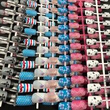 Detachable-Tips Nail-Extension Anchor False-Nail Fake Dingxue Colorful for Manicure-Art-Press