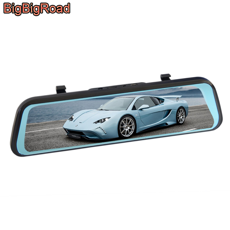 BigBigRoad Car DVR Dash Cam Stream RearView Mirror For <font><b>Mercedes</b></font> <font><b>Benz</b></font> GLS Class 350d 400 450 500 580 <font><b>SLK</b></font> Class <font><b>200</b></font> 250 350N 200K image