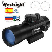 3X44 Green Red Dot Sight Scope Tactical Optics Riflescope Red Dot Scope Fit 11/20mm rail Rifle Scopes for Hunting
