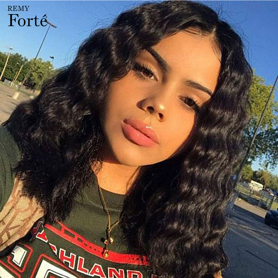Remy Forte Curly Human Hair Wig 100% Remy Brazilian Hair Wigs U Part Lace Wigs 18 Inch Curly Wigs 13X4 Lace Frontal Lace Wigs