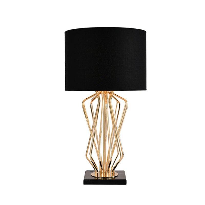 Lampe de bureau spéciale en métal doré blanc/noir E27 LED ampoule lampe de Table de salon luminaires de chevet décoration d'art à la maison