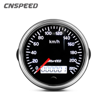 Универсальный измеритель скорости 12 в 24 в 85 мм, измеритель скорости 220 км/ч с белой/янтарной подсветкой с ЖК-дисплеем для автомобиля, грузови...