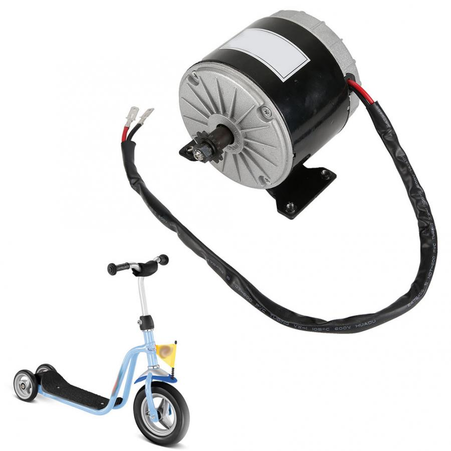 MY1016 24V 350W Brush Motor 2750RPM Permanent Magnet DC High Speed Motor for E-Scooter For Electric Bicycle DIY Accessories