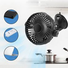 Suction Cup 2000mAh USB Rechargeable Battery Operated Kitchen Fan for Home Car