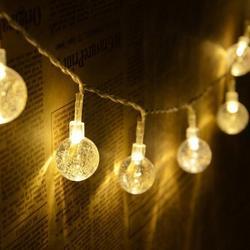 QYJSD 4.5 M/7 M oświetlenie struny przezroczysta kula oświetleniowa festiwal wakacje choinka dekoracje ślubne Party nastrojowe światła|Girlandy świetlne|   -