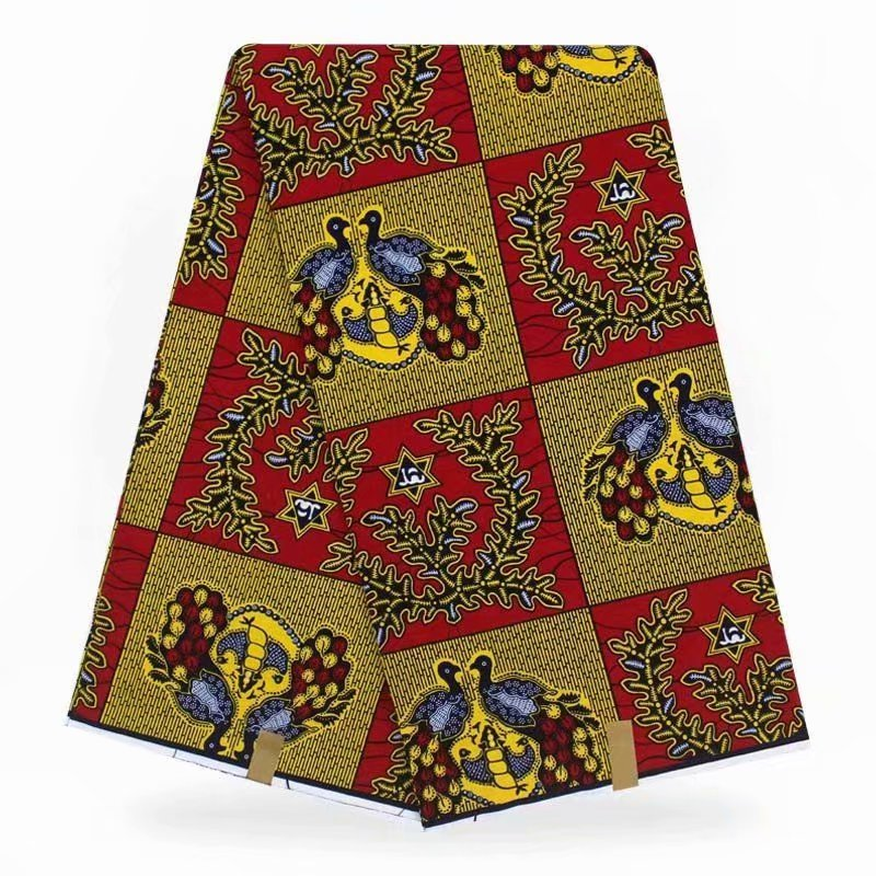 African Wax Prints Fabric Ankara African Polyester Wax Prints Fabric Rea LWax High Quality 6 Yards African Fabric For Party Dres