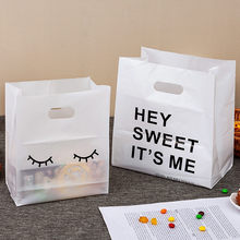 50 pces fosco plástico moda sacola bolo pão sobremesa cozimento takeaway embalagem sacos de compras