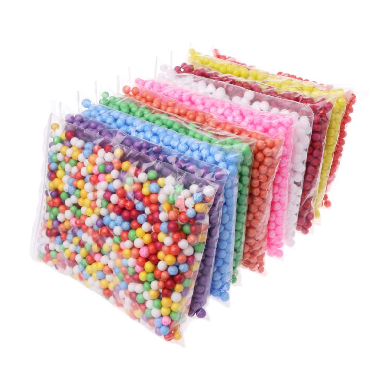 7-9mm Snow Mud Particles Accessories Foam Beads Filler For Foam Fluffy Clay Mud