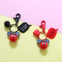 New Creative Cartoon Cute Mouse Keychains Cartoon Car Pendant Key Chain Bag Bag Accessories Amusement Park Souvenir Key Ring