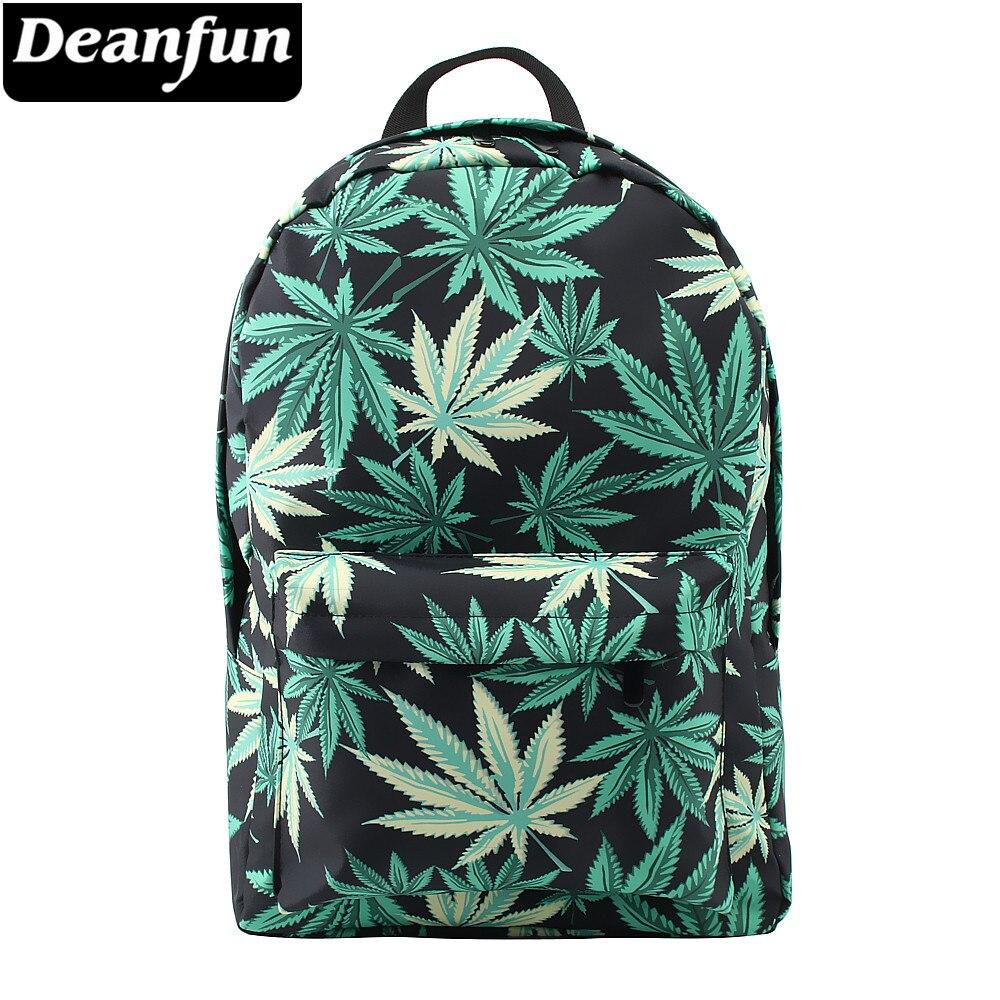 Deanfun School Bags Hemp 3D Printing Kids Backpack Waterproof Laptop Bag School Backpack With Adjustable Strap 80052